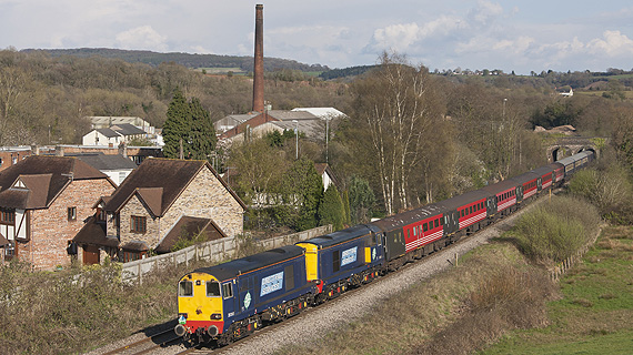 20312 and 20308 hauling a Retro Railtour from Swansea to Huddersfield in 2013